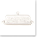 Lenox Opal Inn Carved Dinnerware Covered Butter Dish