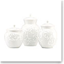 Lenox Opal Inn Carved Dinnerware Canisters Set Of Three