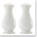 Lenox French Perle White Dinnerware Tall Salt And Pepper