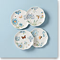 Lenox Butterfly Meadow Blue Dinnerware Dessert Place Setting Of Four