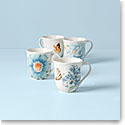 Lenox Butterfly Meadow Blue Dinnerware Mugs Set Of Four