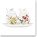 Lenox Butterfly Meadow Dinnerware Condiment Set 7Pc Set