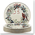 Lenox Winter Greetings Dinnerware Salad Place Setting Of Six