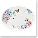 """Lenox Butterfly Meadow Hydrangea Dinnerware Oval Platter 16"""""""