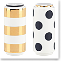 Kate Spade China by Lenox, Fairmount Pk Dot Stripe Salt And Pepper