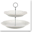 Lenox French Perle White Dinnerware Tiered Server
