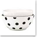 Kate Spade China by Lenox, Deco Dot Mixing Bowl Pair