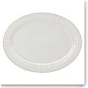Lenox French Perle Groove White Dinnerware Platter 16