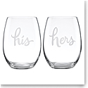 Kate Spade New York, Lenox Two Of A Kind His Hers Stemless Wine