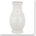 Lenox French Perle White Fluted Vase 8""