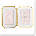 Lenox kate spade Sullivan St Gold 4x6 Hinged Double Frame