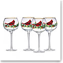 Lenox Winter Greetings Cardinal Balloon, Set of 4