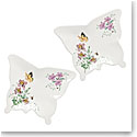 Lenox Butterfly Meadow Melamine Dinnerware Butterfly Tray Pair