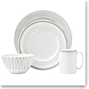 Kate Spade China by Lenox, Charlotte St East Grey 4 Piece Place Setting