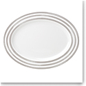 Kate Spade China by Lenox, Charlotte St Grey Oval Platter 16