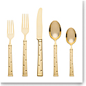 Kate Spade New York, Lenox Larabee Dot Gold Flatware 5 Piece Place Setting