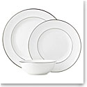 Lenox Continental Dining Platinum Dinnerware 3 Piece Place Setting