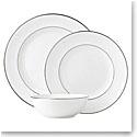 Lenox Continental Dining Platinum Dinnerware 3 Piece Place Setting
