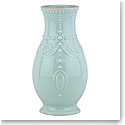 Lenox French Perle Ice Blue Fluted Vase 8""