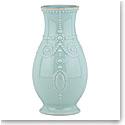 """Lenox French Perle Ice Blue Fluted 8"""" Vase"""
