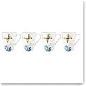 Lenox Butterfly Meadow Hydrangea Dinnerware Mug Set Of Four