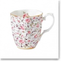 Royal Albert China New Country Roses Rose Confetti Vintage Mug, Single