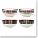 Lenox Vintage Plaid Bowls, Set of 4