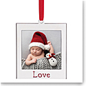 Lenox 2021 Love Frame Charm Metal Ornament