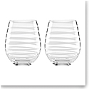 Kate Spade New York, Lenox Charlotte St White Stemless Wine Pair