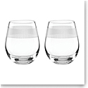 Lenox kate spade, York Avenue Stemless Crystal Wine, Pair