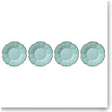 Lenox French Perle Melamine Dinnerware Aquamarine Accent Plate Set Of 4