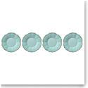 Lenox French Perle Melamine Dinnerware Aquamarine Accent Plate Set Of 4