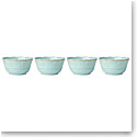 Lenox French Perle Melamine Dinnerware Aquamarine Bowl Set Of 4