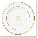 Lenox China Federal Gold Monogram Script Butter Plate K