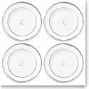 Lenox China Federal Platinum Monogram Script Tidbit Plate L, Set of 4