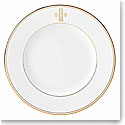 Lenox China Federal Gold Monogram Block Salad Plate Q