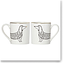 Lenox Kate Spade Jingle All the Way Mugs, Pair