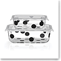 Kate Spade New York, Lenox Deco Dot Rectangular Dish With Lid Set Of Four