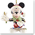 Lenox 2018 Merry and Bright Mickey Christmas Ornament (90th)