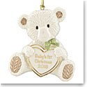 Lenox 2018 Baby's 1st Christmas Teddy Bear Christmas Ornament