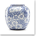 Lenox China Painted Indigo Floral Round Vase