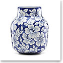 Lenox China Painted Indigo Floral Tapered Vase