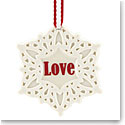 Lenox 2018 Love Snowflake Christmas Ornament