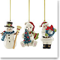 Lenox 2018 Winter Wonderland Ornaments, Set of 3