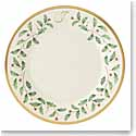Lenox Holiday Monogram Salad Plate J