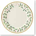 Lenox Holiday Monogram Dinner Plate F
