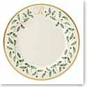 Lenox Holiday Monogram Dinner Plate R