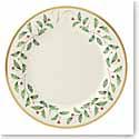 Lenox Holiday Monogram Dinner Plate V