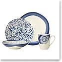 Lenox Market Plate Indigo Dinnerware 4 Piece Place Setting