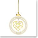 Lenox 2019 Love Ornament
